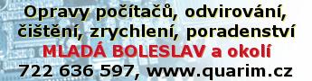 Opravy počítačů, odvirování, čištění, zrychlení, poradenství MLADÁ BOLESLAV a okolí 722 636 597, www.quarim.cz